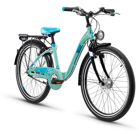 s'cool chiX 24 7-S Juniorcykel Barn Steel turkos